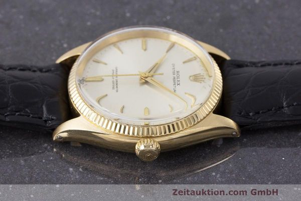Used luxury watch Rolex Oyster Perpetual 18 ct gold automatic Kal. 1560 Ref. 1002  | 162179 05