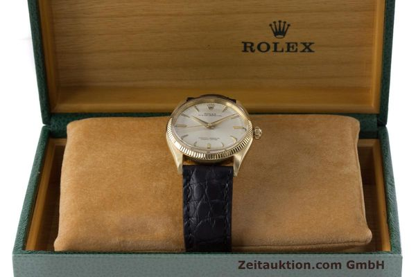 Used luxury watch Rolex Oyster Perpetual 18 ct gold automatic Kal. 1560 Ref. 1002  | 162179 07