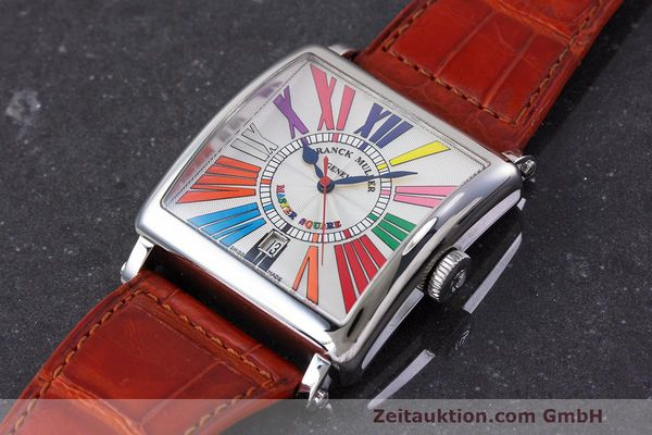 Used luxury watch Franck Muller Master Square steel automatic Kal. FM800 Ref. 6000 H SC  | 162181 01