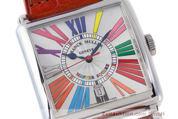 Used luxury watch Franck Muller Master Square steel automatic Kal. FM800 Ref. 6000 H SC  | 162181 02