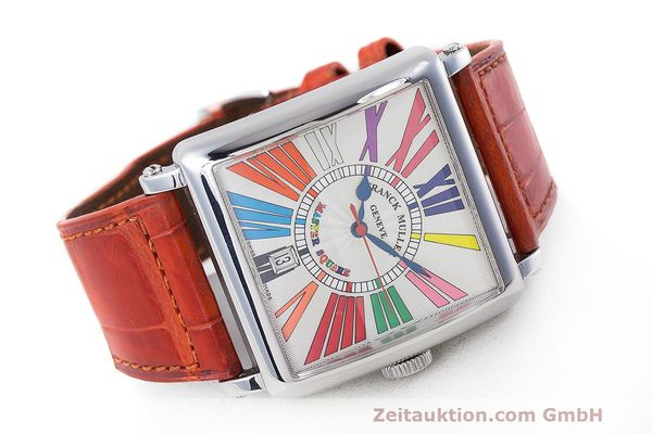 Used luxury watch Franck Muller Master Square steel automatic Kal. FM800 Ref. 6000 H SC  | 162181 03