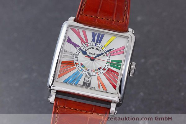 Used luxury watch Franck Muller Master Square steel automatic Kal. FM800 Ref. 6000 H SC  | 162181 04