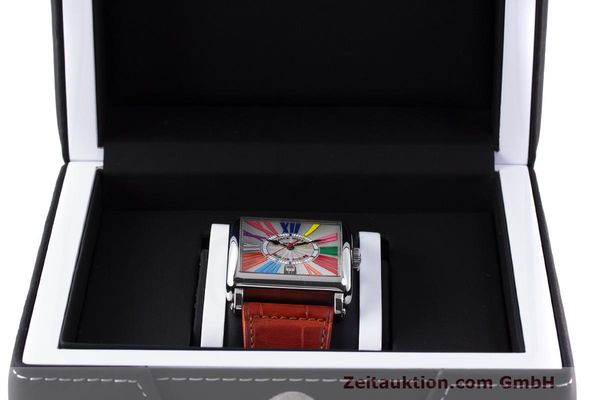 Used luxury watch Franck Muller Master Square steel automatic Kal. FM800 Ref. 6000 H SC  | 162181 07