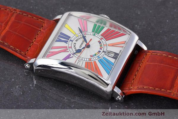 Used luxury watch Franck Muller Master Square steel automatic Kal. FM800 Ref. 6000 H SC  | 162181 13