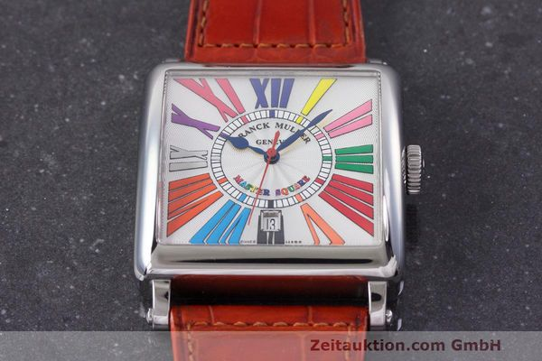 Used luxury watch Franck Muller Master Square steel automatic Kal. FM800 Ref. 6000 H SC  | 162181 14