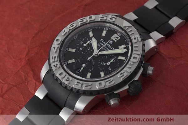 Used luxury watch Blancpain Air Command chronograph steel automatic Kal. F185 Ref. 2285F-6530  | 162190 01