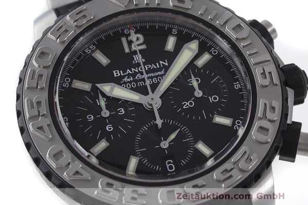 Used luxury watch Blancpain Air Command chronograph steel automatic Kal. F185 Ref. 2285F-6530  | 162190 02