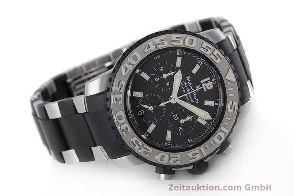 Used luxury watch Blancpain Air Command chronograph steel automatic Kal. F185 Ref. 2285F-6530  | 162190 03