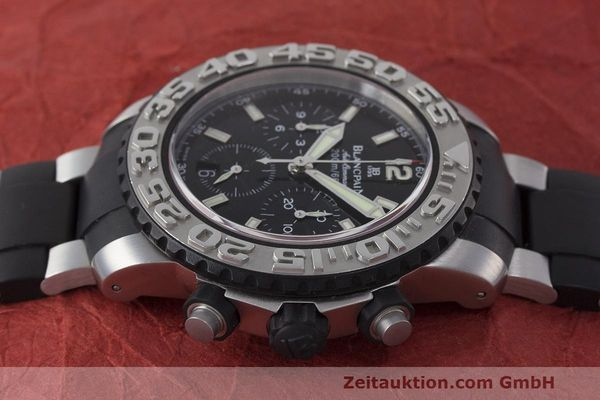 Used luxury watch Blancpain Air Command chronograph steel automatic Kal. F185 Ref. 2285F-6530  | 162190 05
