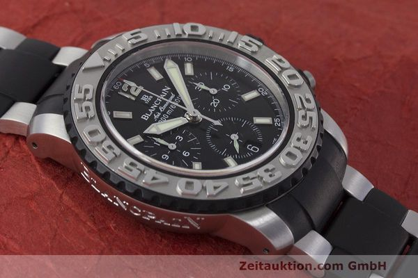 Used luxury watch Blancpain Air Command chronograph steel automatic Kal. F185 Ref. 2285F-6530  | 162190 15