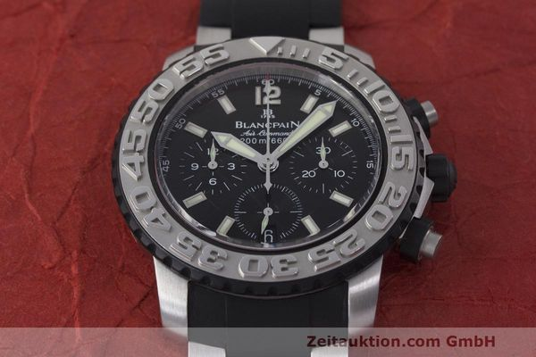 Used luxury watch Blancpain Air Command chronograph steel automatic Kal. F185 Ref. 2285F-6530  | 162190 16
