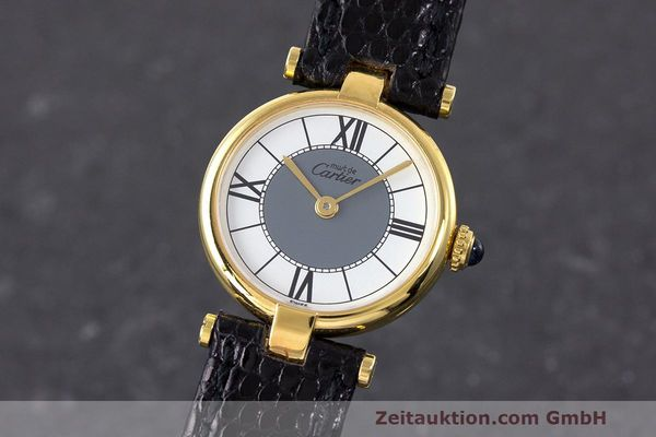 Used luxury watch Cartier Vermeil silver-gilt quartz Kal. 90  | 162202 04