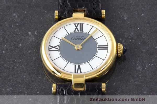 Used luxury watch Cartier Vermeil silver-gilt quartz Kal. 90  | 162202 12