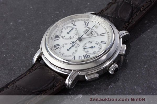 Used luxury watch Maurice Lacroix Masterpiece Flyback chronograph steel automatic Kal. 15 ETA 2892-2 Ref. 15827  | 162205 01