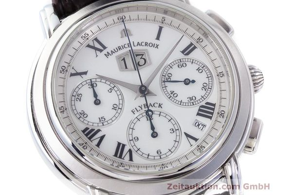Used luxury watch Maurice Lacroix Masterpiece Flyback chronograph steel automatic Kal. 15 ETA 2892-2 Ref. 15827  | 162205 02