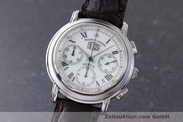 Used luxury watch Maurice Lacroix Masterpiece Flyback chronograph steel automatic Kal. 15 ETA 2892-2 Ref. 15827  | 162205 04