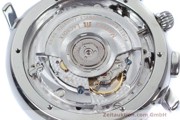 Used luxury watch Maurice Lacroix Masterpiece Flyback chronograph steel automatic Kal. 15 ETA 2892-2 Ref. 15827  | 162205 10