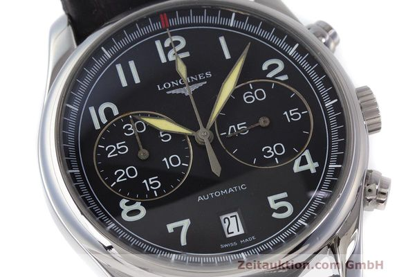 Used luxury watch Longines Avigation chronograph steel automatic Kal. L651.2 ETA 2894-2 Ref. L2.620.4  | 162206 02