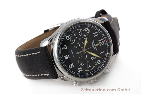 Used luxury watch Longines Avigation chronograph steel automatic Kal. L651.2 ETA 2894-2 Ref. L2.620.4  | 162206 03