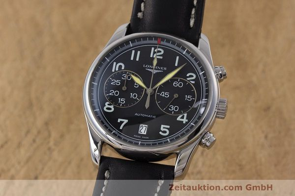 Used luxury watch Longines Avigation chronograph steel automatic Kal. L651.2 ETA 2894-2 Ref. L2.620.4  | 162206 04
