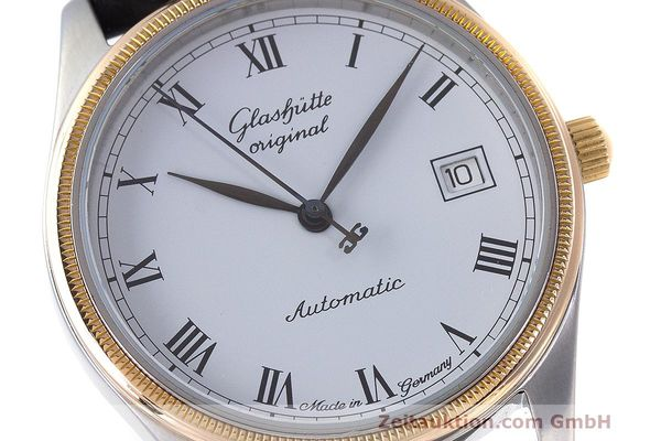 Used luxury watch Glashütte Senator steel / gold automatic Kal. GUB 10-30  | 162208 02