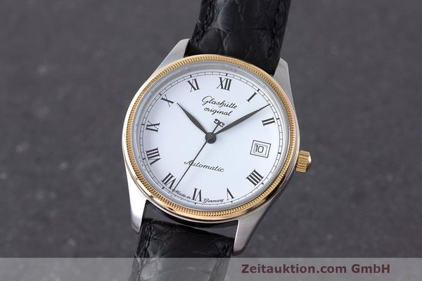 Used luxury watch Glashütte Senator steel / gold automatic Kal. GUB 10-30  | 162208 04