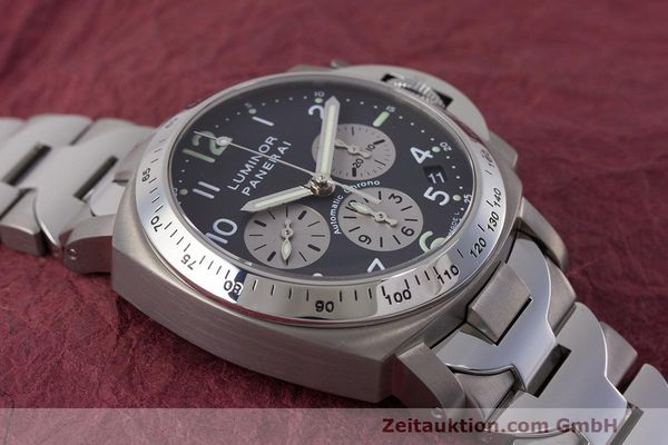 Used luxury watch Panerai Luminor  chronograph titanium automatic Kal. OP IV 400/2 Ref. OP6531 PAM00122  | 162209 17
