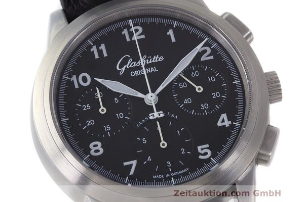 Used luxury watch Glashütte Navigator chronograph steel automatic Kal. GUB 39 Ref. 39-31-13-17-04  | 162210 02