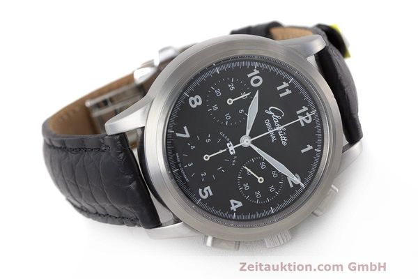 Used luxury watch Glashütte Navigator chronograph steel automatic Kal. GUB 39 Ref. 39-31-13-17-04  | 162210 03
