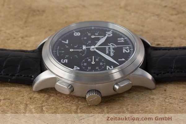 Used luxury watch Glashütte Navigator chronograph steel automatic Kal. GUB 39 Ref. 39-31-13-17-04  | 162210 05