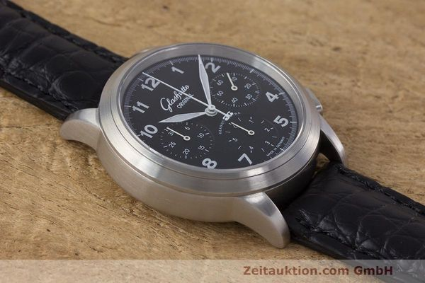 Used luxury watch Glashütte Navigator chronograph steel automatic Kal. GUB 39 Ref. 39-31-13-17-04  | 162210 15
