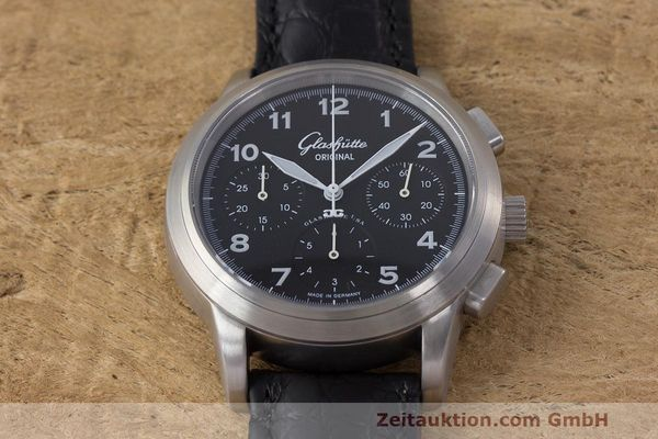 Used luxury watch Glashütte Navigator chronograph steel automatic Kal. GUB 39 Ref. 39-31-13-17-04  | 162210 16