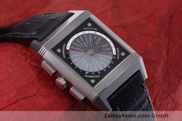 Used luxury watch Jaeger Le Coultre Reverso chronograph steel automatic Kal. 753 Ref. 231.T.50 LIMITED EDITION | 162211 14