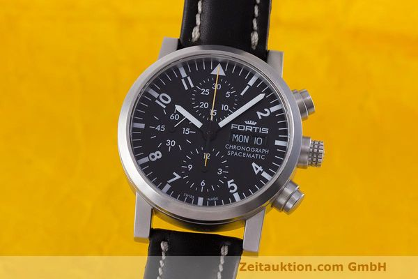 FORTIS SPACEMATIC AUTOMATIK CHRONOGRAPH HERRENUHR FLIEGERUHR VP: 2590,- EURO [162212]