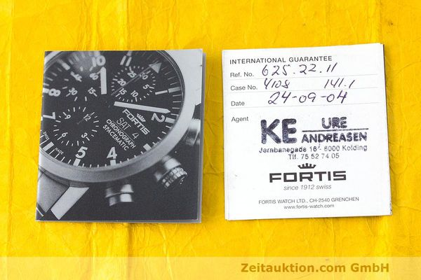 Used luxury watch Fortis Spacematic chronograph steel automatic Kal. ETA 7750 Ref. 625.22.141.1  | 162212 08