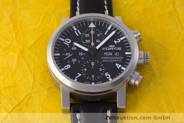 Used luxury watch Fortis Spacematic chronograph steel automatic Kal. ETA 7750 Ref. 625.22.141.1  | 162212 15