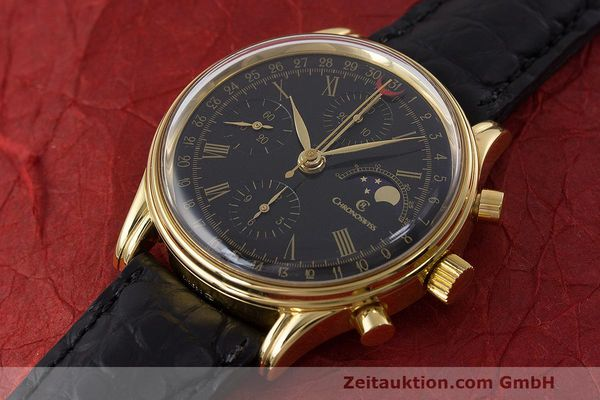 Used luxury watch Chronoswiss A. Rochat chronograph gold-plated automatic Kal. ETA 7750 Ref. 77990  | 162217 01