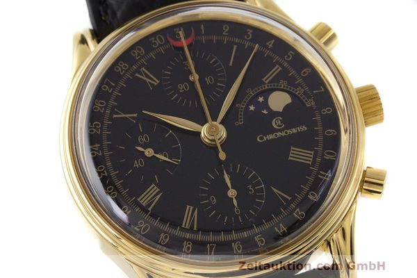 Used luxury watch Chronoswiss A. Rochat chronograph gold-plated automatic Kal. ETA 7750 Ref. 77990  | 162217 02