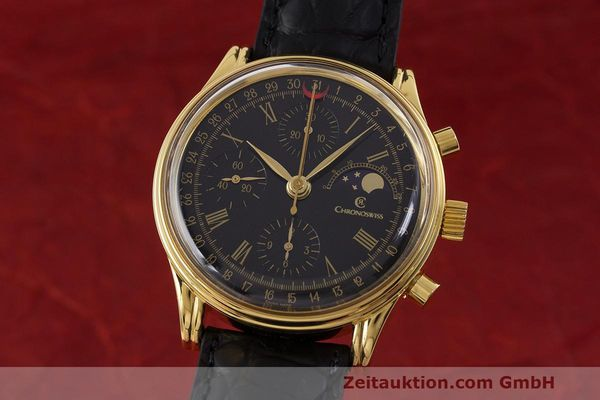 Used luxury watch Chronoswiss A. Rochat chronograph gold-plated automatic Kal. ETA 7750 Ref. 77990  | 162217 04