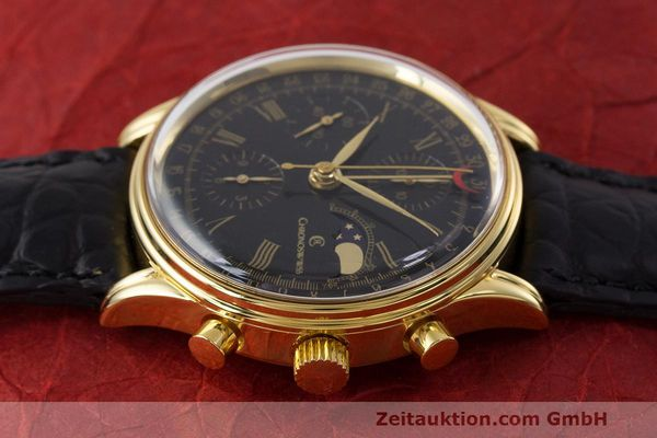 Used luxury watch Chronoswiss A. Rochat chronograph gold-plated automatic Kal. ETA 7750 Ref. 77990  | 162217 05