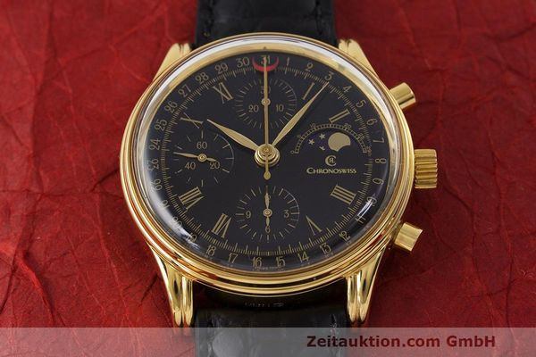 Used luxury watch Chronoswiss A. Rochat chronograph gold-plated automatic Kal. ETA 7750 Ref. 77990  | 162217 15