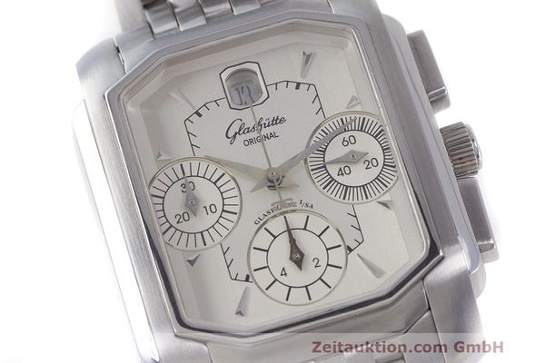 Used luxury watch Glashütte Senator chronograph steel automatic Kal. GUB 39  | 162219 02