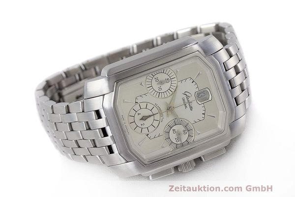 Used luxury watch Glashütte Senator chronograph steel automatic Kal. GUB 39  | 162219 03
