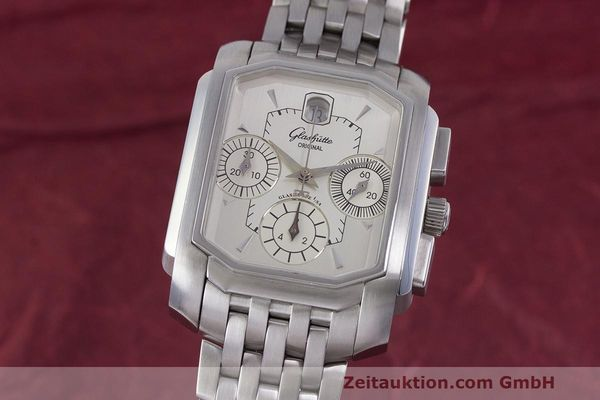 Used luxury watch Glashütte Senator chronograph steel automatic Kal. GUB 39  | 162219 04