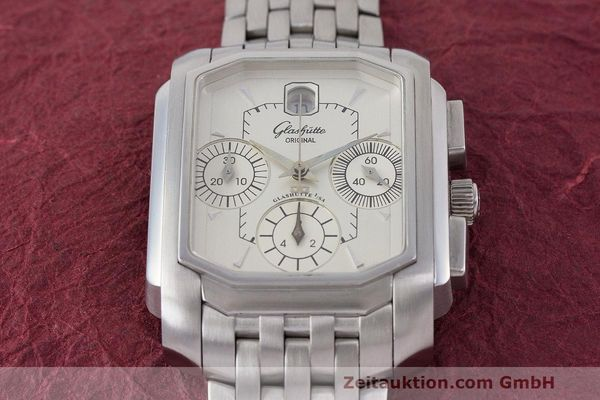 Used luxury watch Glashütte Senator chronograph steel automatic Kal. GUB 39  | 162219 15