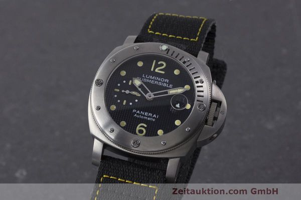 PANERAI LUMINOR SUBMERSIBLE TITANE  AUTOMATIQUE KAL. 7750P1 ETA A0511 LP: 6600EUR  [162220]