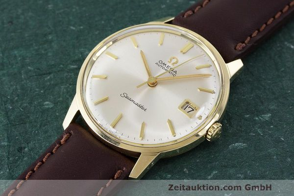 Used luxury watch Omega Seamaster 14 ct yellow gold automatic Kal. 562 Ref. 166.001 VINTAGE  | 162223 01