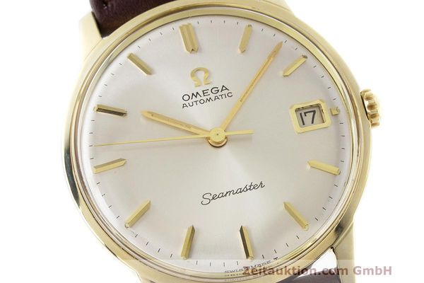 Used luxury watch Omega Seamaster 14 ct yellow gold automatic Kal. 562 Ref. 166.001 VINTAGE  | 162223 02
