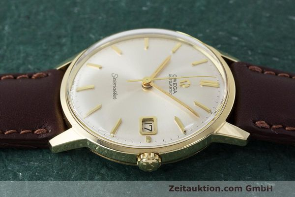 Used luxury watch Omega Seamaster 14 ct yellow gold automatic Kal. 562 Ref. 166.001 VINTAGE  | 162223 05