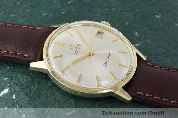 Used luxury watch Omega Seamaster 14 ct yellow gold automatic Kal. 562 Ref. 166.001 VINTAGE  | 162223 13